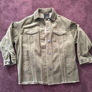 Zara women corduroy jacket khaki